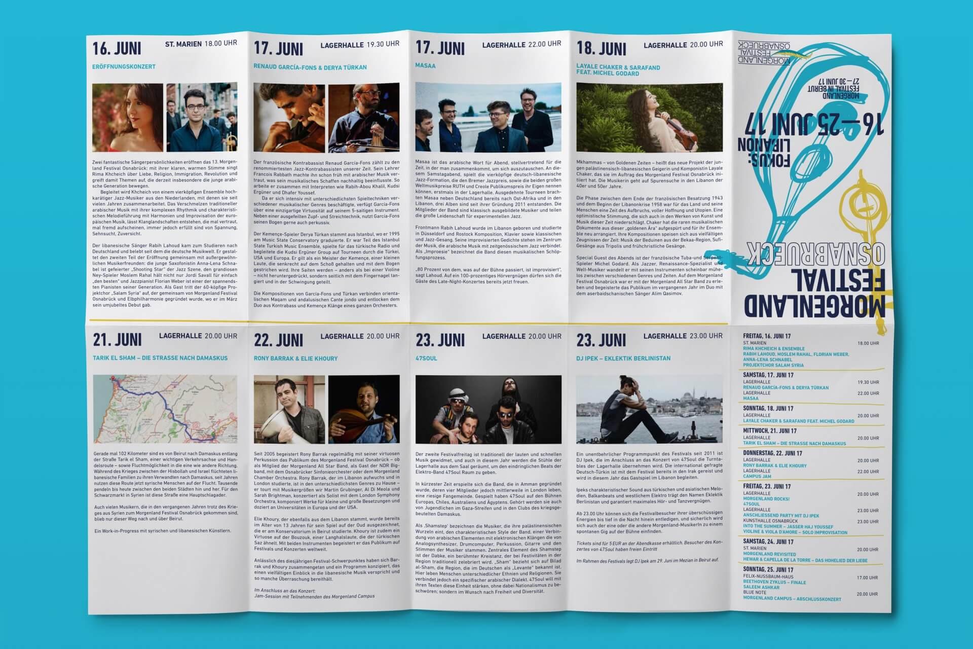 Junic Studio Morgenland Festival 2015 – 2017